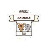 Dakloze dierendag Vector illustratie Royalty-vrije Stock Fotografie