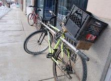 Dakloze fiets stock foto