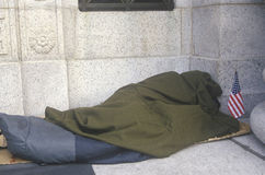 Dakloze Inaugurele Dag in Washington, D C Royalty-vrije Stock Foto's