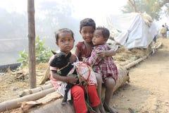 Dakloze kinderen royalty-vrije stock foto's
