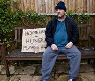 Dakloze mens Royalty-vrije Stock Afbeelding