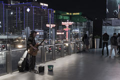 Dakloze mens in las Vegas Stock Foto's