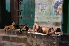 Dakloze Mensen van Kolkata Stock Foto