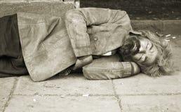 Dakloze persoon royalty-vrije stock foto