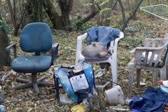 Dakloze plaats Stock Afbeeldingen