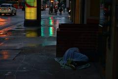 Dakloze Stad Royalty-vrije Stock Afbeelding