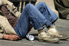 Daklozen Stock Afbeelding