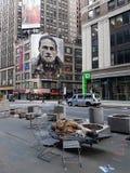 Daklozen in NY stock foto's