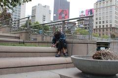 Daklozen in San Francisco Royalty-vrije Stock Foto's