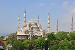 Dakmening van de Blauwe Moskee, Istanboel, Turkije Stock Foto