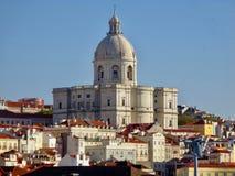 Dakmening van Rua Augustus, Lissabon stock afbeeldingen