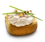 Dakos com salada do queijo de feta Foto de Stock