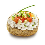 Dakos with cottage cheese Royalty Free Stock Photos