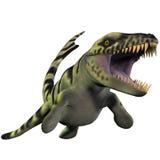 Dakosaurus over Wit Stock Foto's