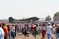 Dakota C-47D Air Show with people Stock Image
