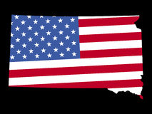 dakota flagę south mapy. Obraz Royalty Free