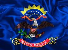 dakota flagi północy stanu ilustracja wektor