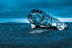 Dakota plane wreckage, Iceland Royalty Free Stock Image