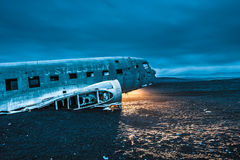 Dakota plane wreckage, Iceland Royalty Free Stock Images