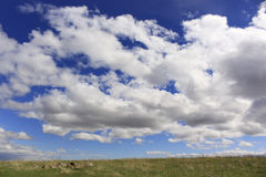 Dakota Praire Sky. Sky and prairie of western South Dakota Royalty Free Stock Image