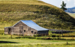 Dakota Ranch. A barn on a South Dakota ranch royalty free stock photography