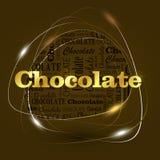 Dakr chocolate energy template Stock Photos