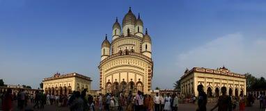 Dakshineshwar卡利市寺庙,加尔各答 图库摄影