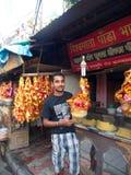 Dakshineswar卡利市寺庙和印地安人民来播放圣洁 图库摄影