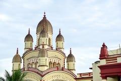 Dakshineswar卡利市寺庙的精妙的外部 库存图片