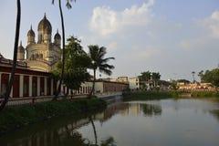 Dakshineswar Kali Temple, Calcutta, India immagine stock libera da diritti