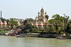 Dakshineswar Kali Temple, Kolkata, Índia Fotos de Stock