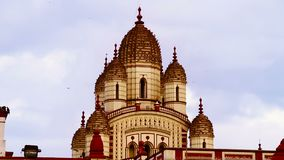 Dakshineswar que sorprende Kali Temple en Kolkata almacen de metraje de vídeo