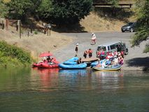 Daksparren die op Rogue River lanceren Royalty-vrije Stock Fotografie