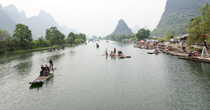 Daksparren in een rivier royalty-vrije stock foto