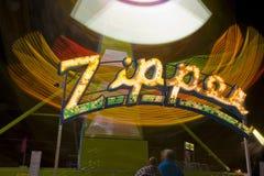Daktylowego festiwalu okręgu administracyjnego jarmarku Nadrzeczna przejażdżka suwaczek Obraz Royalty Free