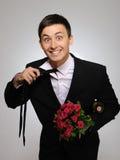 daktylowego kwiatów mężczyzna romantyczni potomstwa Obrazy Stock