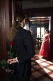 daktylowego portreta romantyczna wersja Zdjęcie Royalty Free