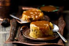 Daktylowy pudding z karmelem Obrazy Royalty Free