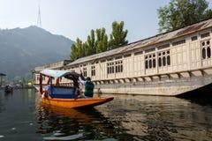 Dal湖,斯利那加,查谟和克什米尔旅游业 免版税库存照片