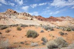 Dal av branddelstatsparken i Nevada, USA arkivbild