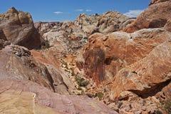 Dal av branddelstatsparken, Nevada Arkivfoto