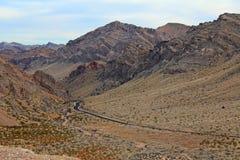 Dal av brandvägen, Nevada arkivfoto
