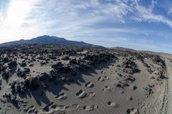 Dal av den Gorely vulkan Arkivbild