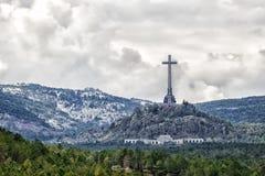 Dal av det stupat (Valle de los Caidos), Madrid, Spanien Arkivfoto