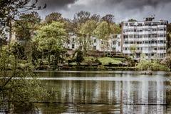 Dal av det vård- dammet, Hampstead hed royaltyfri fotografi
