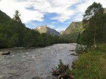 Dal av floden Valldola Royaltyfria Bilder