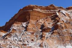 Dal av månen - Valle de la Luna, Atacama öken, Chile royaltyfria bilder