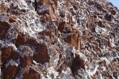 Dal av månen - Valle de la Luna, Atacama öken, Chile arkivbild