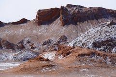 Dal av månen - Valle de la Luna, Atacama öken, Chile royaltyfri fotografi