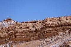 Dal av månen - Valle de la Luna, Atacama öken, Chile royaltyfri foto
